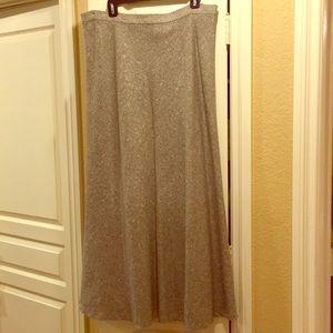 Versatile Fully Lined Wool-Blend Maxi Skirt